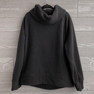 Black cowl neck fleece size S (6/7)